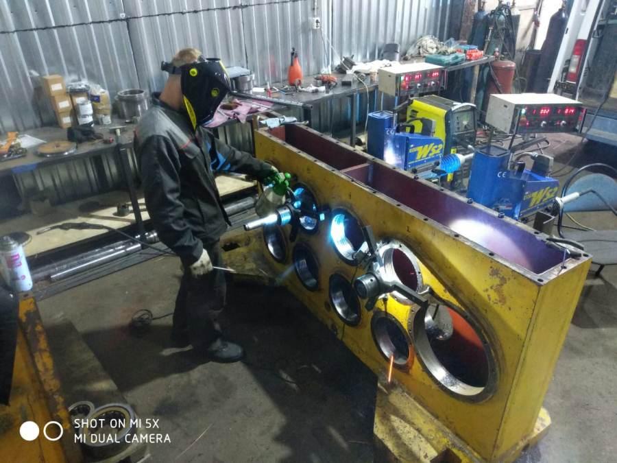 Ремонт вибропогружателей восстановление отверстий